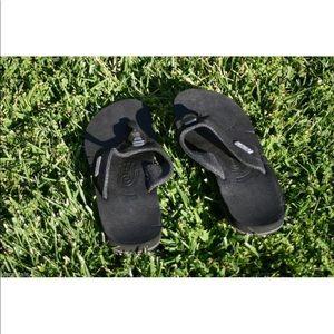 Womens Black TEVA ILLUM Light Up Flip Flop Sandals